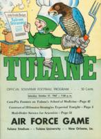 Tulane University Official Souvenir Football Program-The Greenie; Air Force vs. Tulane