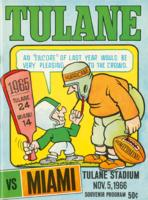 Tulane University Official Souvenir Football Program-The Greenie; Tulane vs. Miami