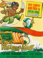 Tulane University Official Souvenir Football Program-The Greenie; William & Mary Game
