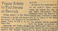 1960 Young Artists to End Series of Recital
