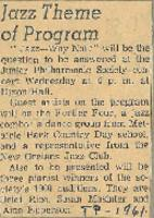 1961-01-01 Jazz Theme of Program