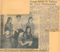 1969 Young Artists to Perform for Junior Philharmonic