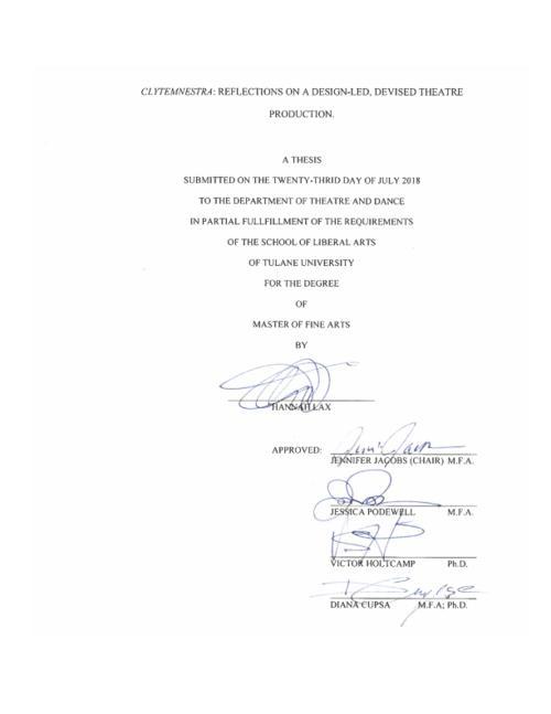 clytemnestra thesis