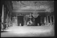 Interior view Bey's Palace with chandeliers