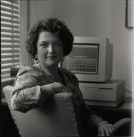 Hassell at a computer