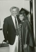 Inside Tulane May 1988 Newcomb Commencement, Student With Faculty