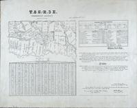 T.8 S.-R. 3E. Greensburg District. R.W. Boyd, Surveyor General, La., 1852. Donaldsonville.