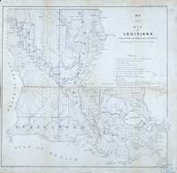 No. 8 (H) Map of Louisiana representing the several land districts. (Donaldsonville, 1860, Wm. J. McCulloh, Surveyor General, La.)