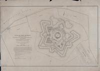 Plan of Fort Jackson, Showing the effect of the Bombardment by the U.S. Mortar Flotilla and Gunboats April 18th to 24th, 1862. Flag Officer D.G. Farragut Commanding Fleet, Com. D.D. Porter Commanding Flotilla. Surveyed by J.S. Harris under the direction o