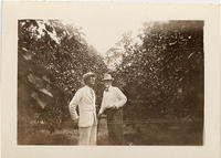 Father Pearson & Pastor Atkinson in grapefruit orchard