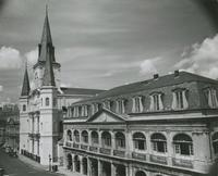 Cabildo, St. Louis Cathedral and Presbytere.