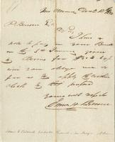 Business Letter from James H. Caldwell to P. Benson, n.p.