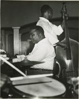 Two members of the Lawrence Marrero Polo Barnes New Orleans Jazz Band playing their instruments