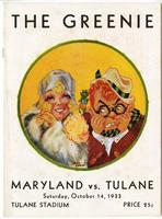 Tulane University Football Program-The Greenie; Maryland vs. Tulane