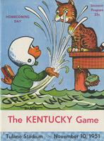 Tulane University Football Program-The Greenie; Kentucky vs. Tulane