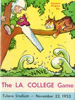 Tulane University Football Program-The Greenie; Louisiana College vs. Tulane