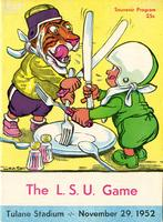 Tulane University Football Program-The Greenie;  L.S.U. vs. Tulane