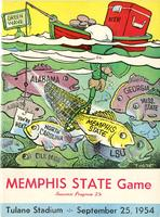 Tulane University Football Program-The Greenie; Memphis State vs. Tulane