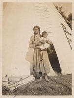 American Indian woman and a child