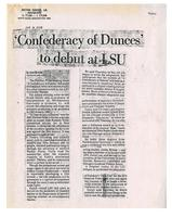 Confederacy of Dunces to debut at LSU
