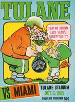 Tulane University Football Program-The Greenie; Miami vs. Tulane
